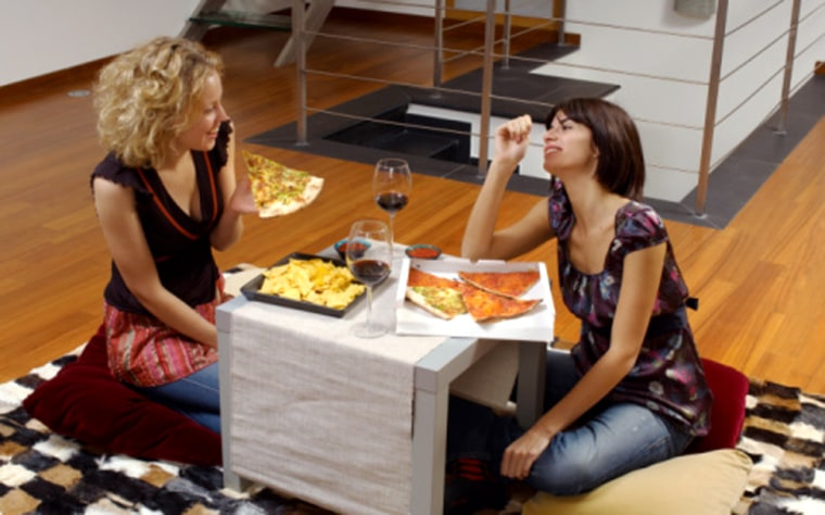 When we eat with friends, we eat about 35 percent more than we would if wedined alone.