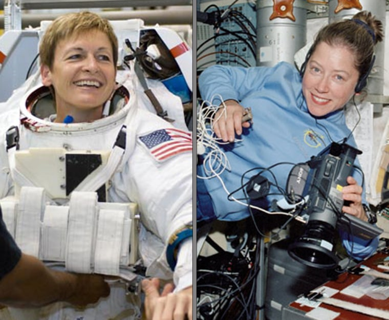 Veteran astronauts Pamela Melroy and Peggy Whitson will lead a joint construction mission to the international space station next month.
