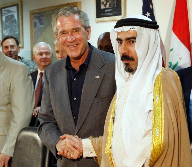 George W. Bush, Abdul Sattar Abu Risha