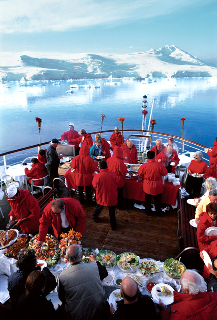 Abercrombie & Kent's 15-day excursions, which take travelers from Buenos Aires to the Antarctic Peninsula onboard its luxury Explorer II cruise ship, allow high-end travelers the opportunity to explore the seventh continent comfortably and in style.