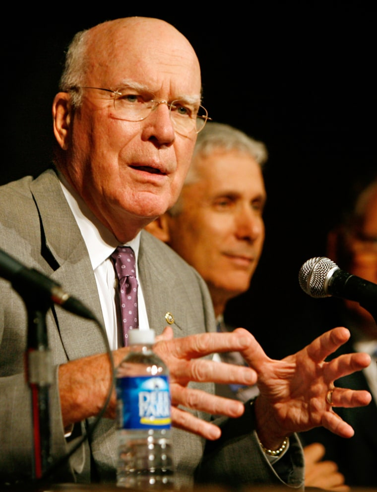 The proposal by Senate Judiciary Committee chairman Patrick Leahy, D-Vt., to give Guantanamo detainees the right to challenge their detention failed to obtain enough votes to end debate.