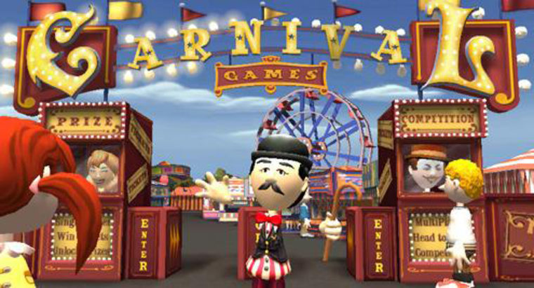 """Though """"Carnival Games"""" makes thoroughuse of the Wii's motion-sensitive Remote controller, the thrill of the midway is nowhere to be found."""