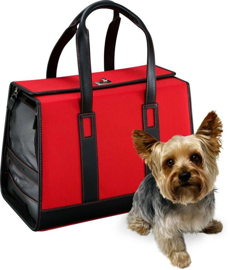 Specializing in pet carriers, Sherpa offers a variety of designs, including the Monaco, which can accommodate an animal weighing up to 14 pounds. This chic case retails for $325.