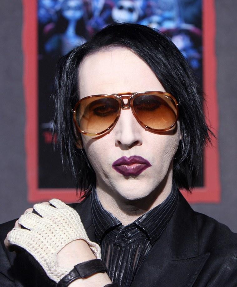 Rock singer Marilyn Manson arrives at th