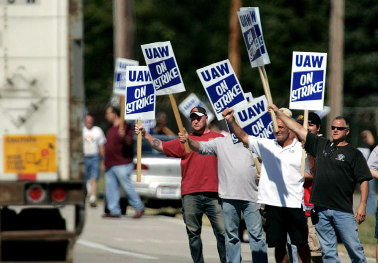 Strike by United Auto Workers against General Motor Corp