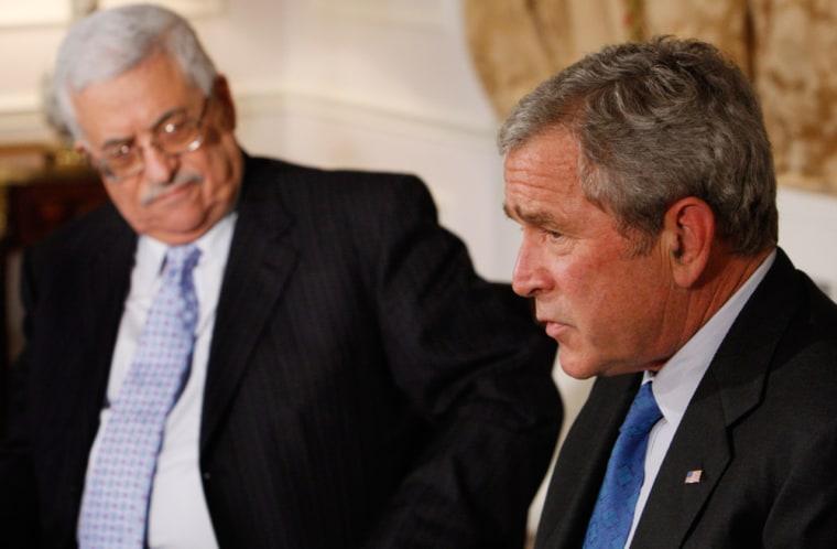 George W. Bush, Mahmoud Abbas