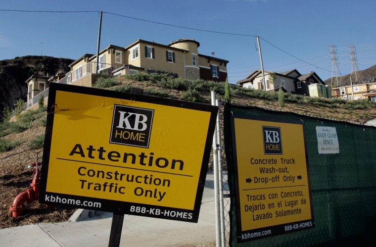 KB Home said it swung to a loss in the third quarter, despite a hefty gain from the sale of its French operations, as the housing market deteriorated further in the summer months.