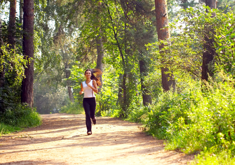If you've got the time, an outdoor workout can not only give you a chance to explore your destination, it might also be the best remedy for work-related stress.