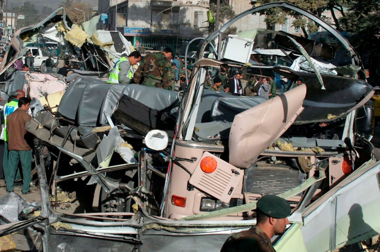 Suicide bomb attack on Afghan Army bus in Kabul