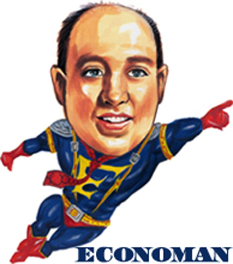 Al Parish, former economist shown here as his superhero character 'Economan,'admitted to two counts of fraud and lying to investigators. Prosecutors say he defrauded about 500 people and investors reported losing $90 million.