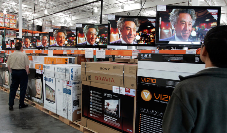 large wide screen TV television, Dustin Hoffman