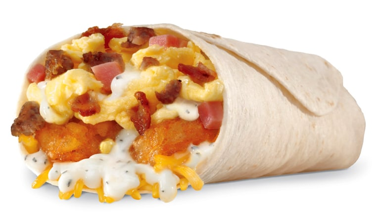 Hardee's Country Breakfast Burrito, which the fast-food chain introduced Monday, packs 920 calories and 60 fat grams.