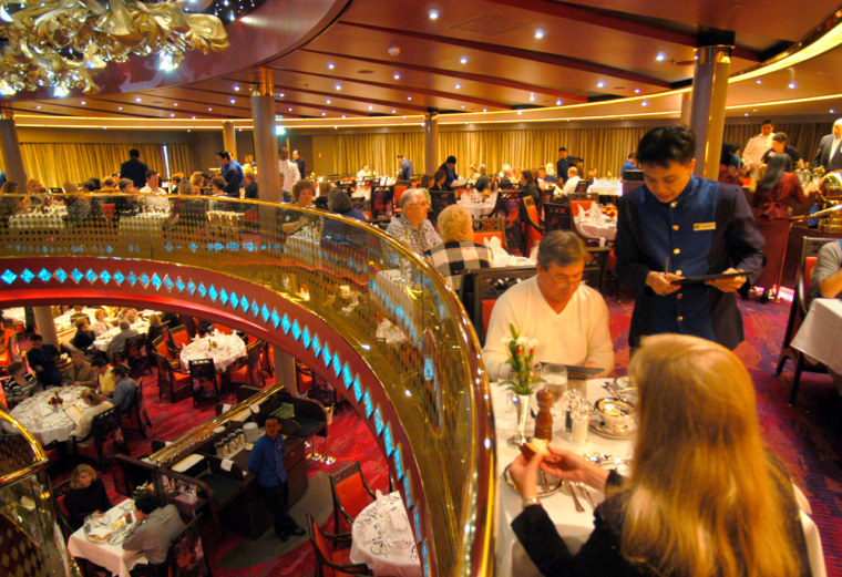 "Under Holland America's ""As You Wish"" dining program, guests may choose either the preset dining time or flexible seating, where they can make reservations on a daily basis or just walk up during dining hours to get a table."