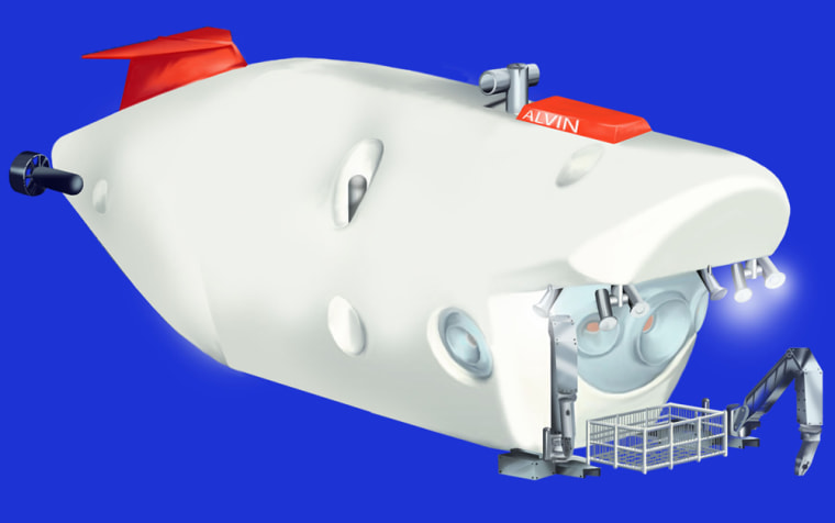 An artist's conception shows the design for the new deep-sea submersible.