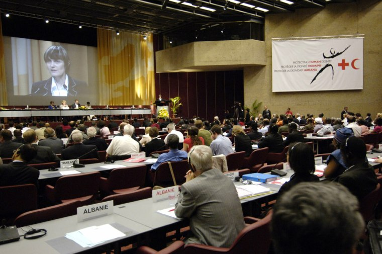 General view of the opening session of the 29th International Conference of the Red Cross and Red Crescent in Geneva