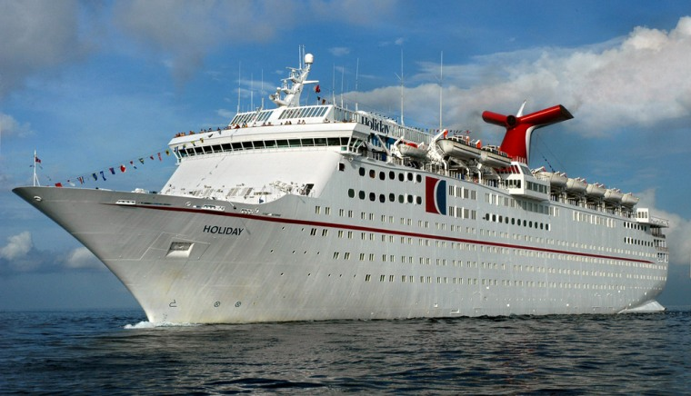 """File photo of Carnival Cruise Lines' \""""Holiday\"""" cruising off Cozumel"""