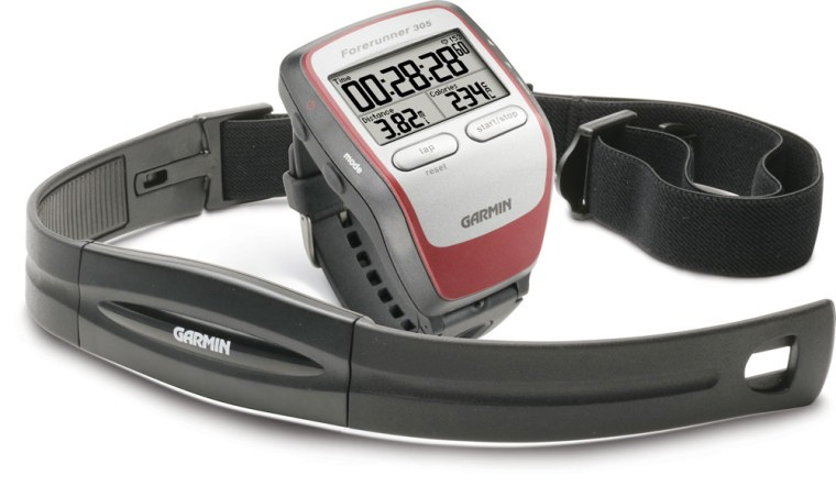 The Forerunner 305 offers a ton of training and data-tracking features for the numbers-conscious endurance athlete. And it should: The whopper-of-a-watch retails for $350.