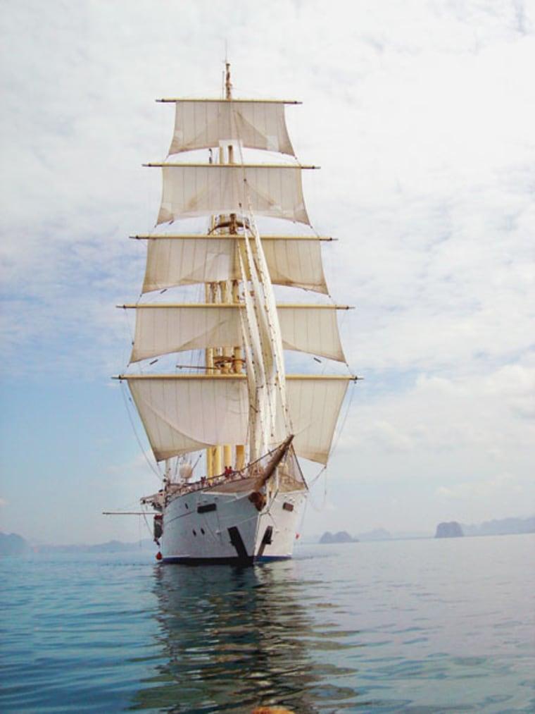 Cruising the Caribbean aboard the Star Clipper.
