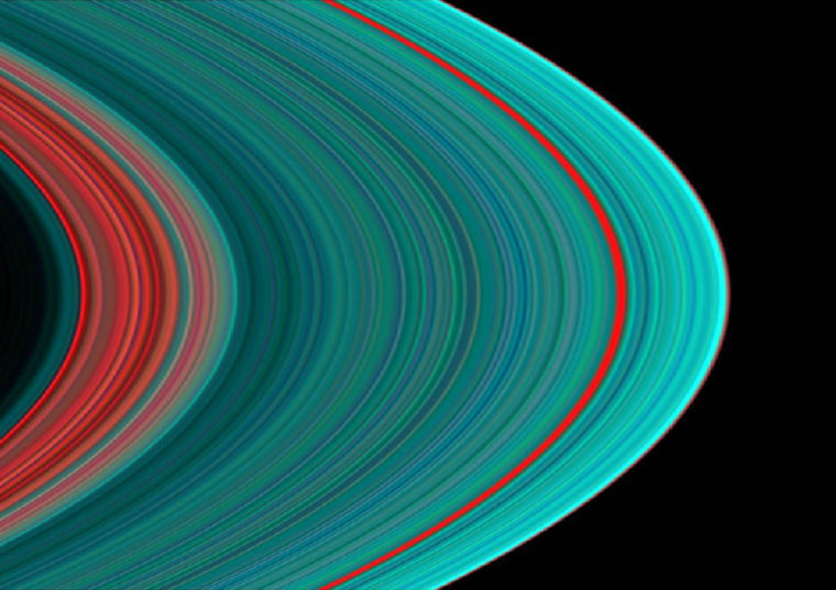 IMAGE FROM CASSINI SPACECRAFT OF RINGS OF PLANET SATURN