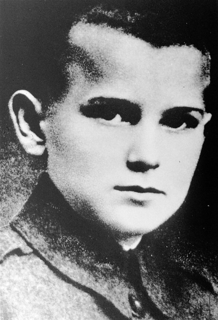 Pope John Paul II, the former Karol Wojtyla, is seen when he was 12, in Wadowice, Poland. (AP Photo)