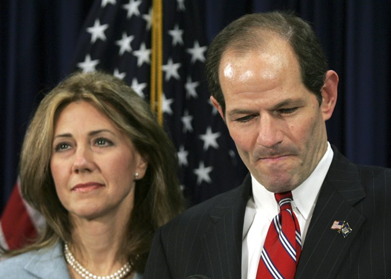 Image: Eliot Spitzer with his wife Silda Wall