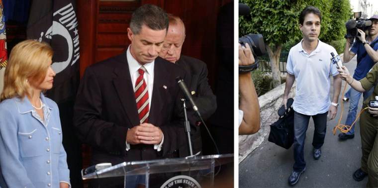Image: Left, Gov. James E. McGreeve. Right, Golan Cipel.
