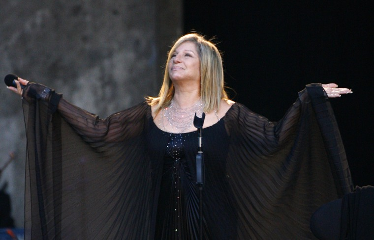 File photo of U.S. entertainer Barbra Streisand on the stage in Berlin
