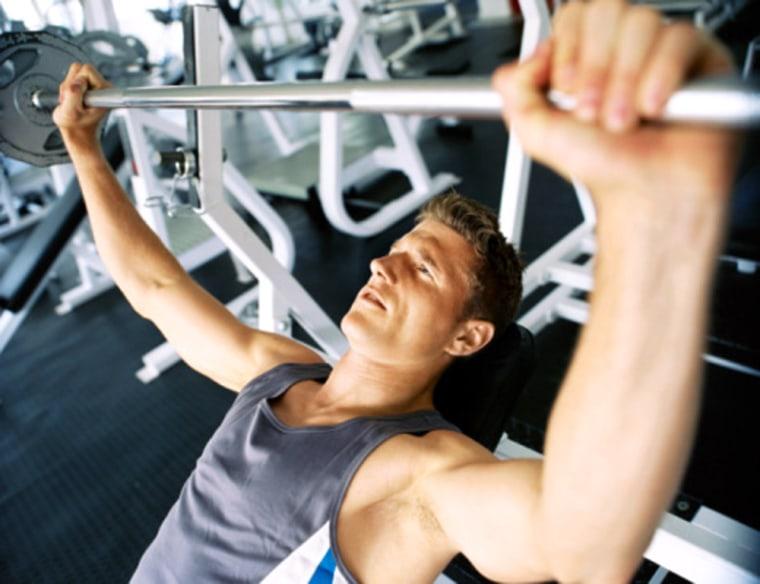 Image: Lifting weights