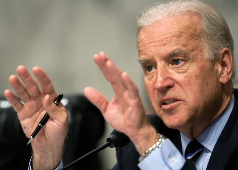 Chairman and US Senator Joe Biden,D-DE,