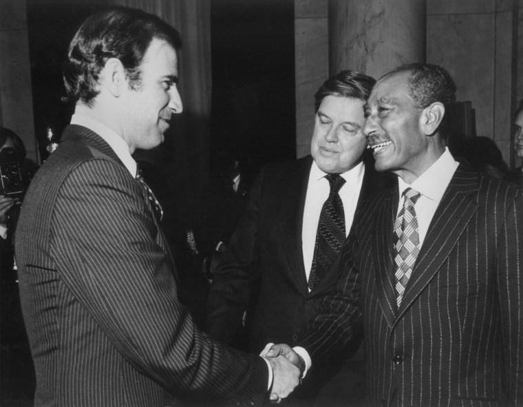 Joe Biden, Anwar Sadat, Frank church