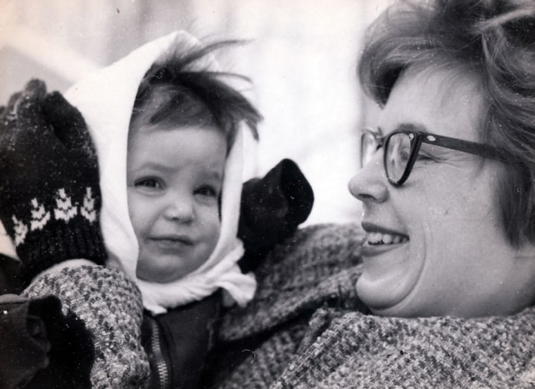 This 1964 photo provided by the Heath family shows Alaska Gov. Sarah Palin  with her mother Sally Heath in Wasilla Alaska. Republican presidential candidate Sen. John McCain, R-Ariz., announced Palin as his vice presidential running mate on Friday, Aug. 29, 2008. (AP Photo/Heath Family) ** NO SALES **