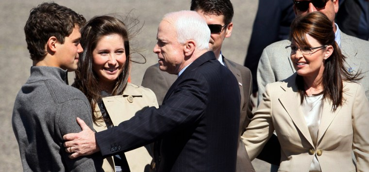 John McCain, Sarah Palin, Levi Johnston, Bristol Palin