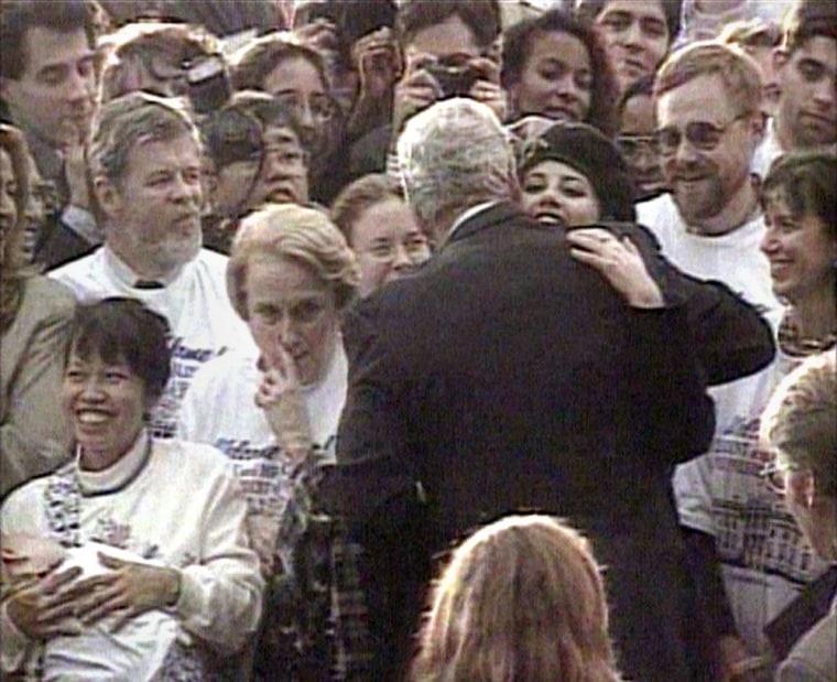 Clinton Hugging Monica Lewinsky