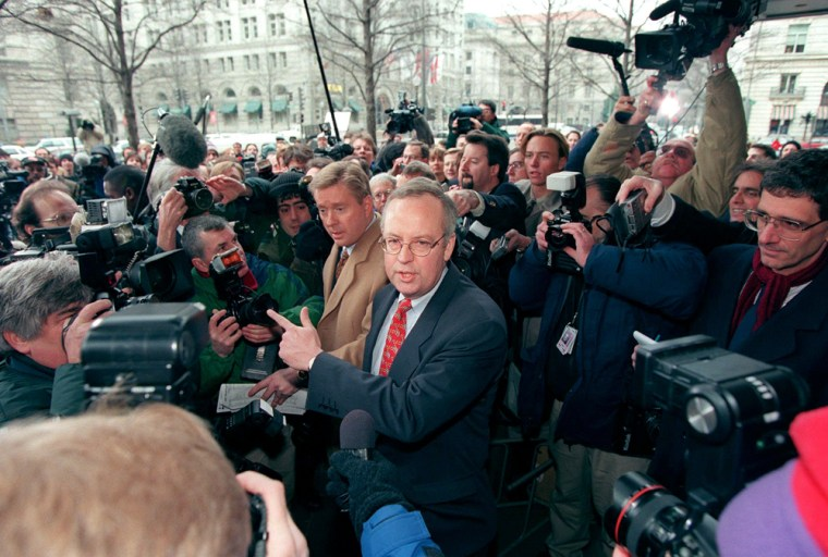 Kenneth Starr, independent Whitewater counsel, is