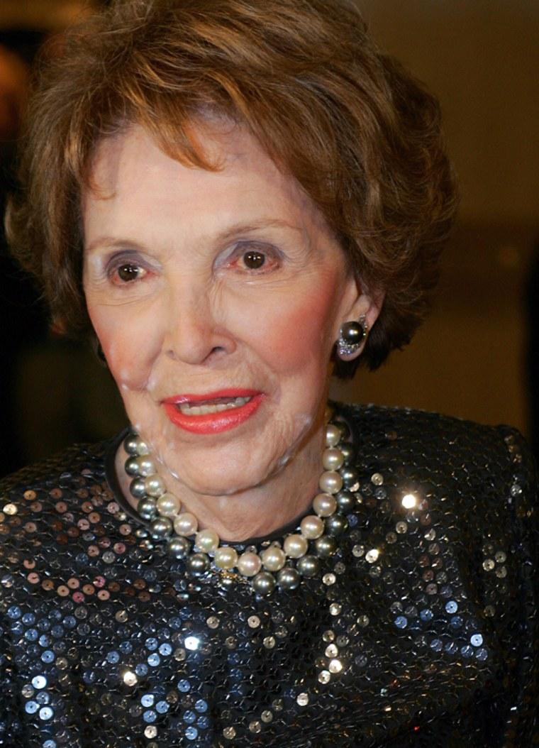 Former First Lady Nancy Reagan arrives f
