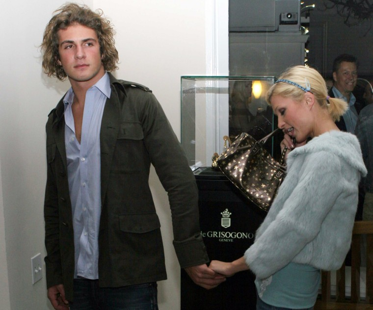 08 November 2005 - Los Angeles, California - Stavros Niarchos and Paris Hilton.  Cocktail Reception to Show Diamonds and other Jewelry from DeGrisogono held at the Penthouse at the Beverly Towers.