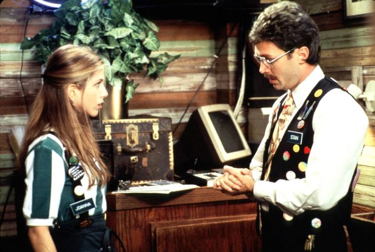 Waitress Jennifer Aniston Does Not Enjoy Her Last Talk With Her Boss In A Scene Of Twentieth Centur
