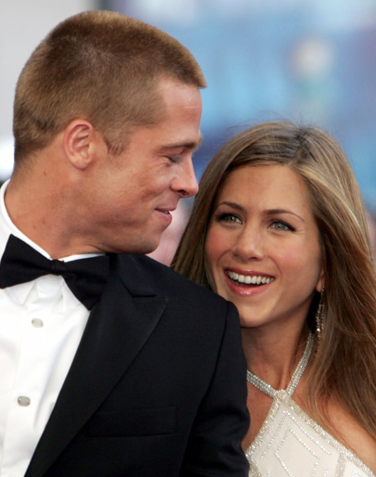 File image of Hollywood power couple Brad Pitt and Jennifer Aniston separate