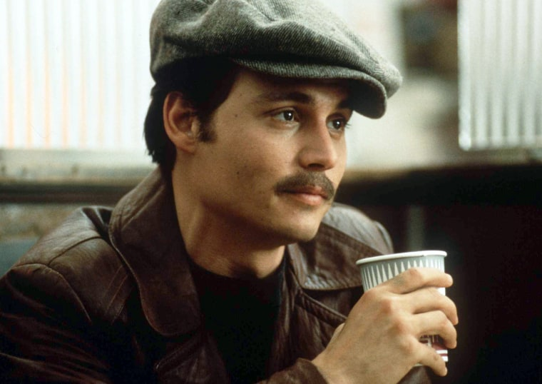 "1997 Johnny Depp stars in the new movie ""Donnie Brasco"""