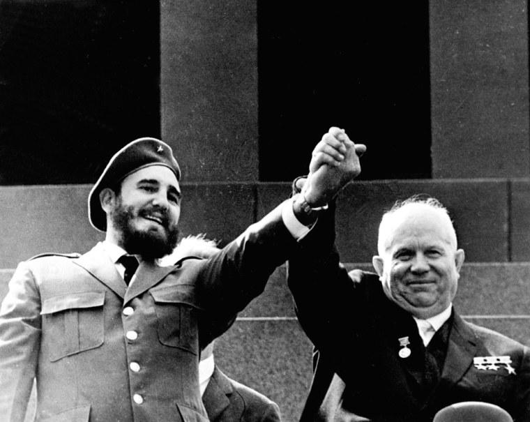 Cuban President Fidel Castro shown in file photo d