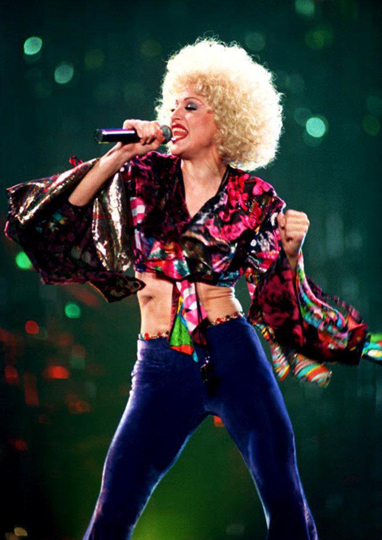 U.S. pop star Madonna performs 28 September 1993 d