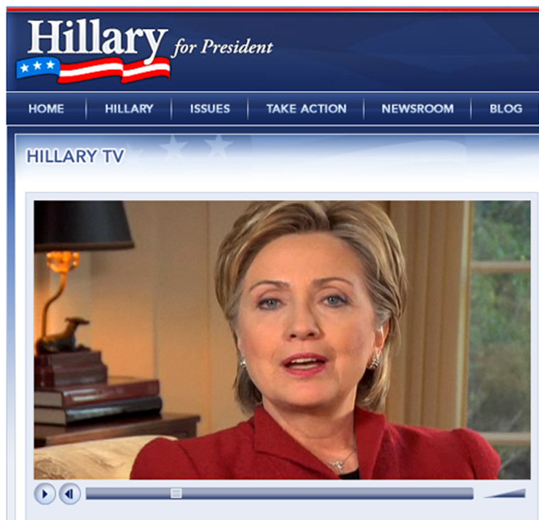 "Jan. 20, 2007 ""I'm In"" Hillary discusses her plans to form an exploratory committee."