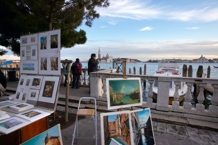 Paintings For Sale Along the Grand Canal
