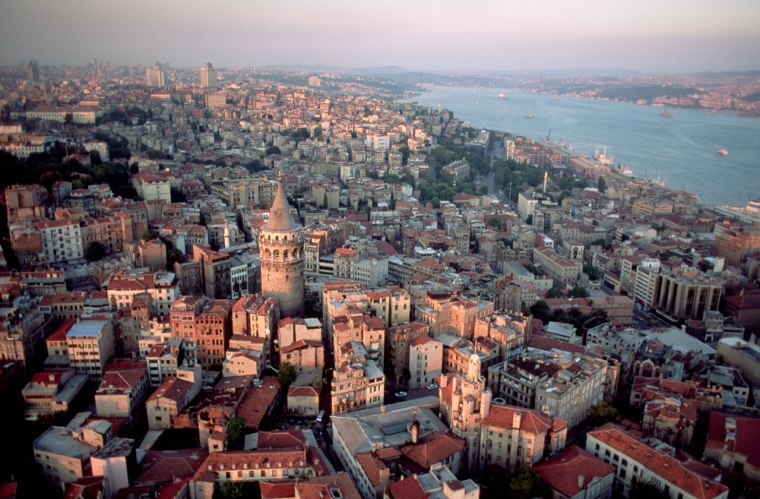 Aerial View of Galata Tower