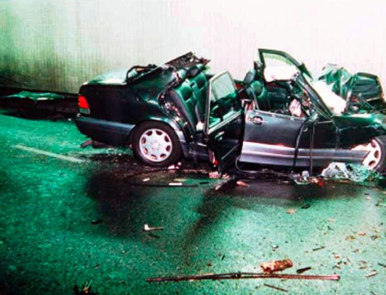 Wrecked Mercedes
