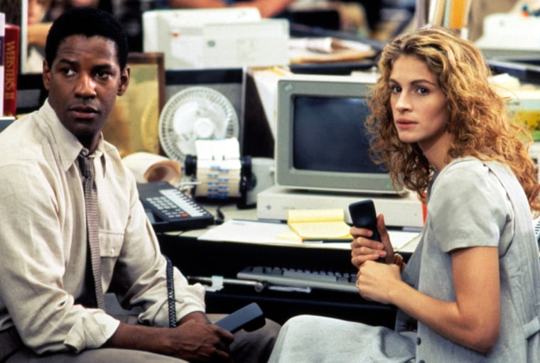 PELICAN BRIEF, Denzel Washington, Julia Roberts, 1993
