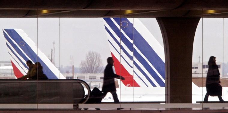 Image: Air France terminal in Paris on Dec. 25