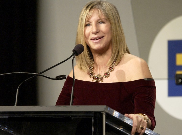 Barbra Streisand is honored by the Human Right Commission at the Century Plaza Hotel March 7, 2004 in Century City, California.