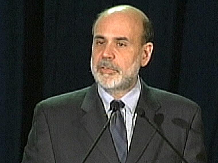 Federal Reserve Chairman Ben Bernanke addresses the Economic Club of New York on Monday night.