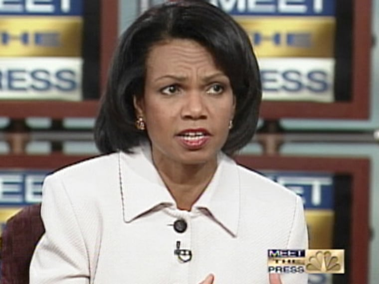 """Despite insisting on NBC's """"Meet the Press"""" on March 26 she has no intention of running for president, Secretary of State Condoleezza Rice is still touted by some as a potential 2008 candidate."""
